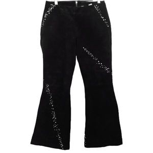 Wilsons Leather Maxima suede rhinestone pants 10